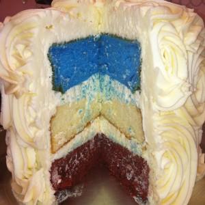 Redwhiteblue cake