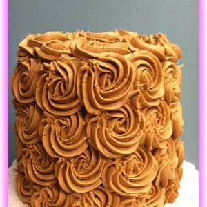 3 layer rose cake