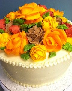 Fall Rose Cake