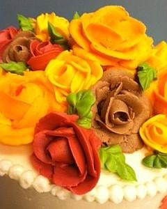 Fall Rose Cake2