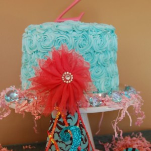 Rose Blue & Pink Birthday Cake