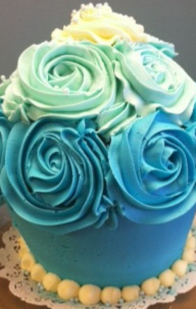 Ombre Cupcake Cake
