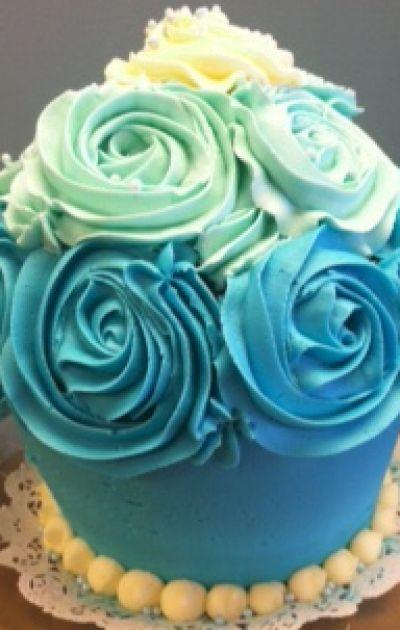 Ombre Cupcake Cake