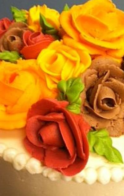 Fall Rose Cake