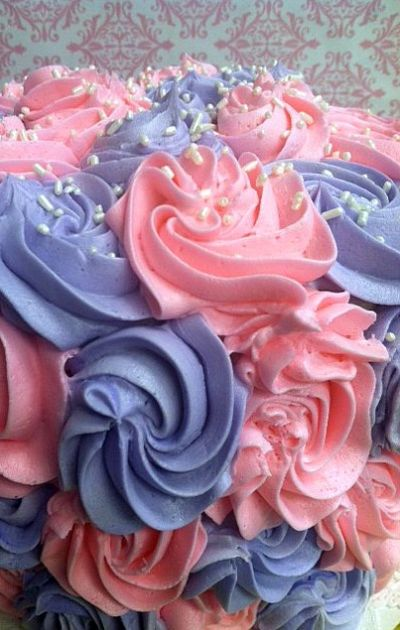 Pink & Purple Rose Cake