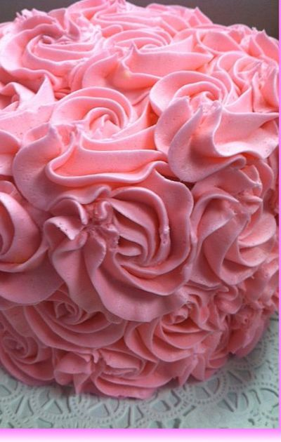 Hot Pink Rose Cake